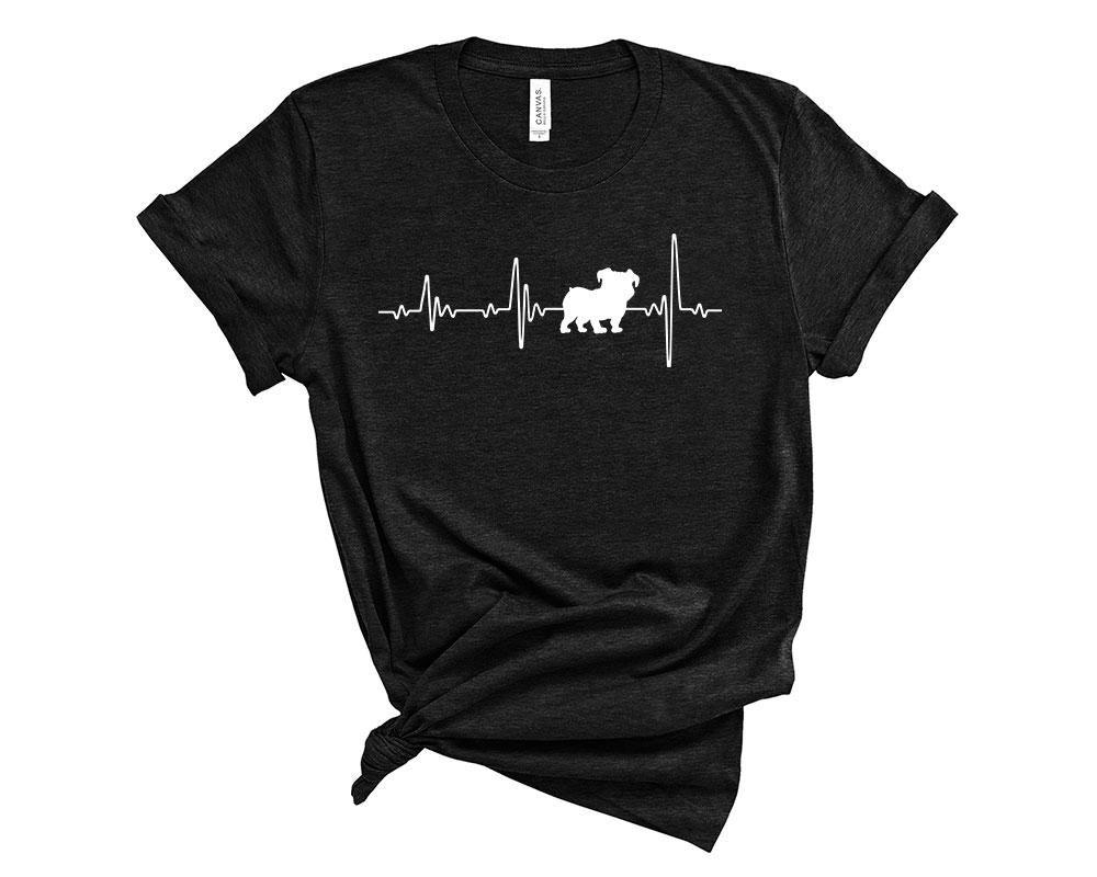 Heather Black Bulldog Shirt