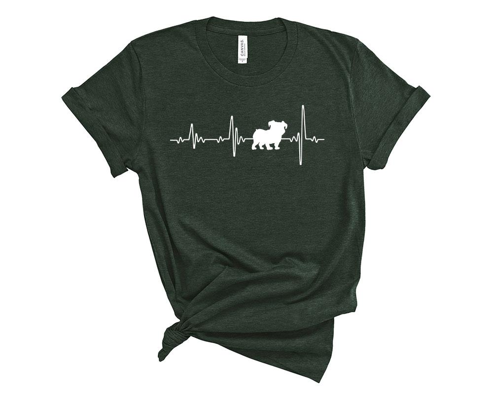 Heather Forest Bulldog Shirt