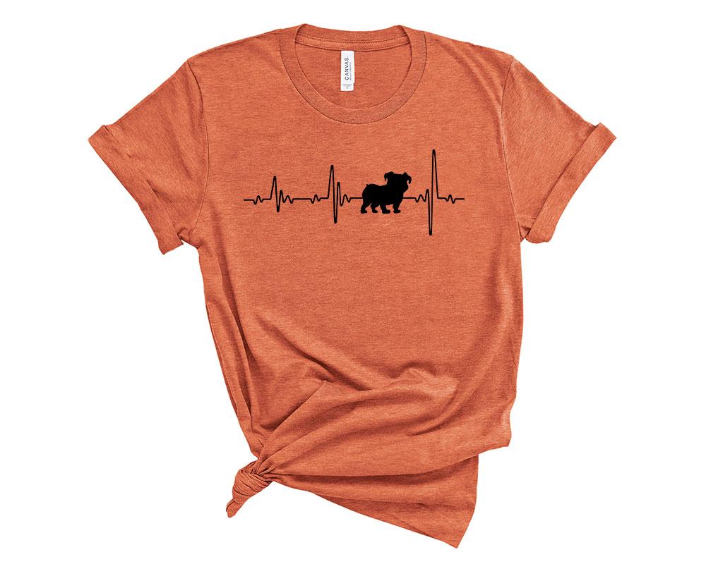 Heather Orange Bulldog Shirt