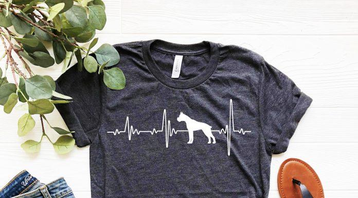 Boxer Love Heartbeats T Shirt
