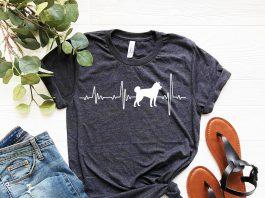 Akita Love Heartbeats T Shirt
